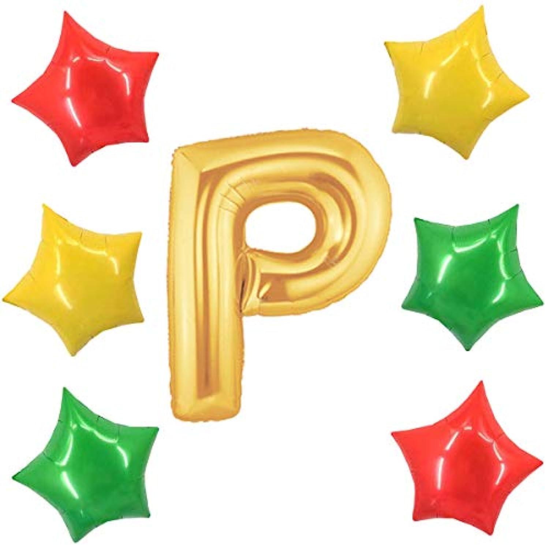 アドワン 数字 風船 バルーン 飾り付け 誕生日 ゴールド 大きい 数字1~9 文字 記念日 お祝い (P)