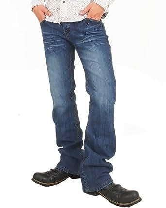 (エムシー) MC メンズ ジーンズ スキニー スーパーストレッチ デニム ジーパン ブーツカット denim-2-LL-4-D-Blu
