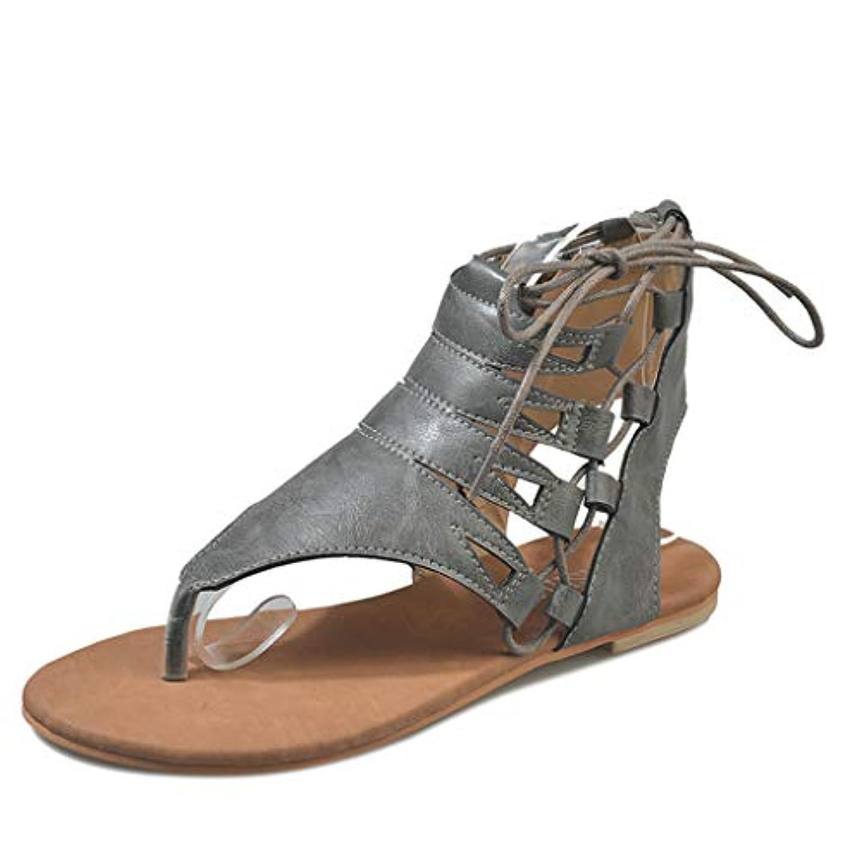 周りその間危険なレディース サンダル Tongdaxinxi レディース レディース ソリッドファッション サンダル カジュアル ローマン シューズ 大きいサイズ かわいい 靴 可愛い フラット レディース サンダル