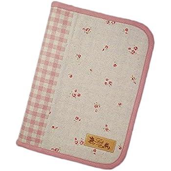 ラブリーリリー(Lovely Lily) 手作り母子手帳ケース L ラウンドファスナータイプ 2人分収納可能 小花柄 ピンク RB9004LPK