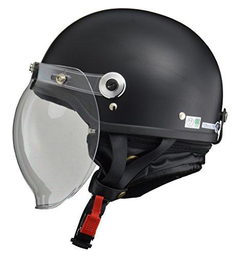 リード工業 バイクヘルメット ジェット CROSS  ハーフマットブラック CR-760 - B00BPI1DC0 1枚目