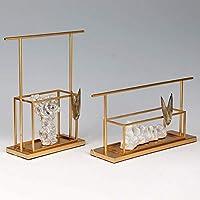 Home Craftsホームデコレーションハイエンドソフトデコレーションオフィスデスクセット台湾Taihuストーンメタル工芸品