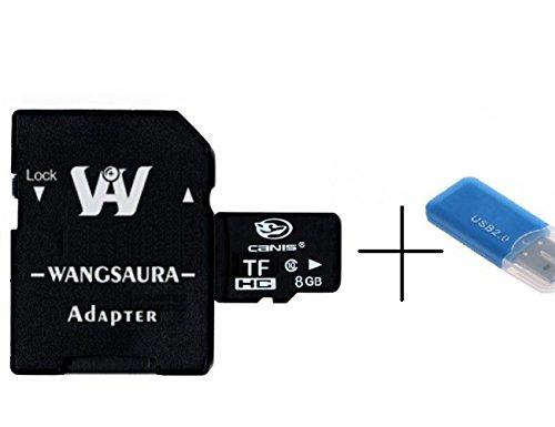 Canis microSDHCカード 2G 4GB 8GB 16GB 32GB Class10 UHS-I対応 (最大読出速度80MB/s:最大書込速度20MB/s) (8GB)