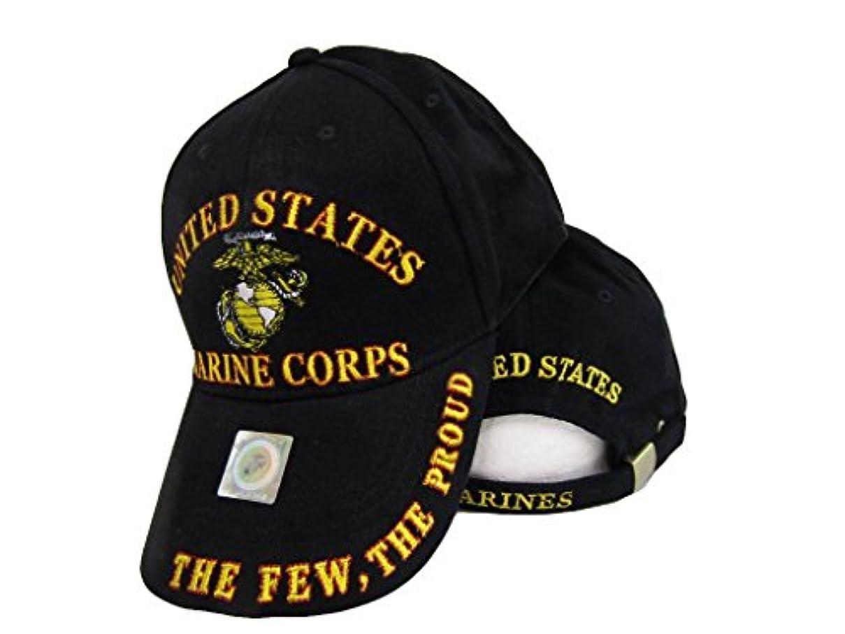 ロバ火星過言USMC EGA The Fewの誇りレッド/ゴールド文字Marines海兵刺繍キャップ帽子