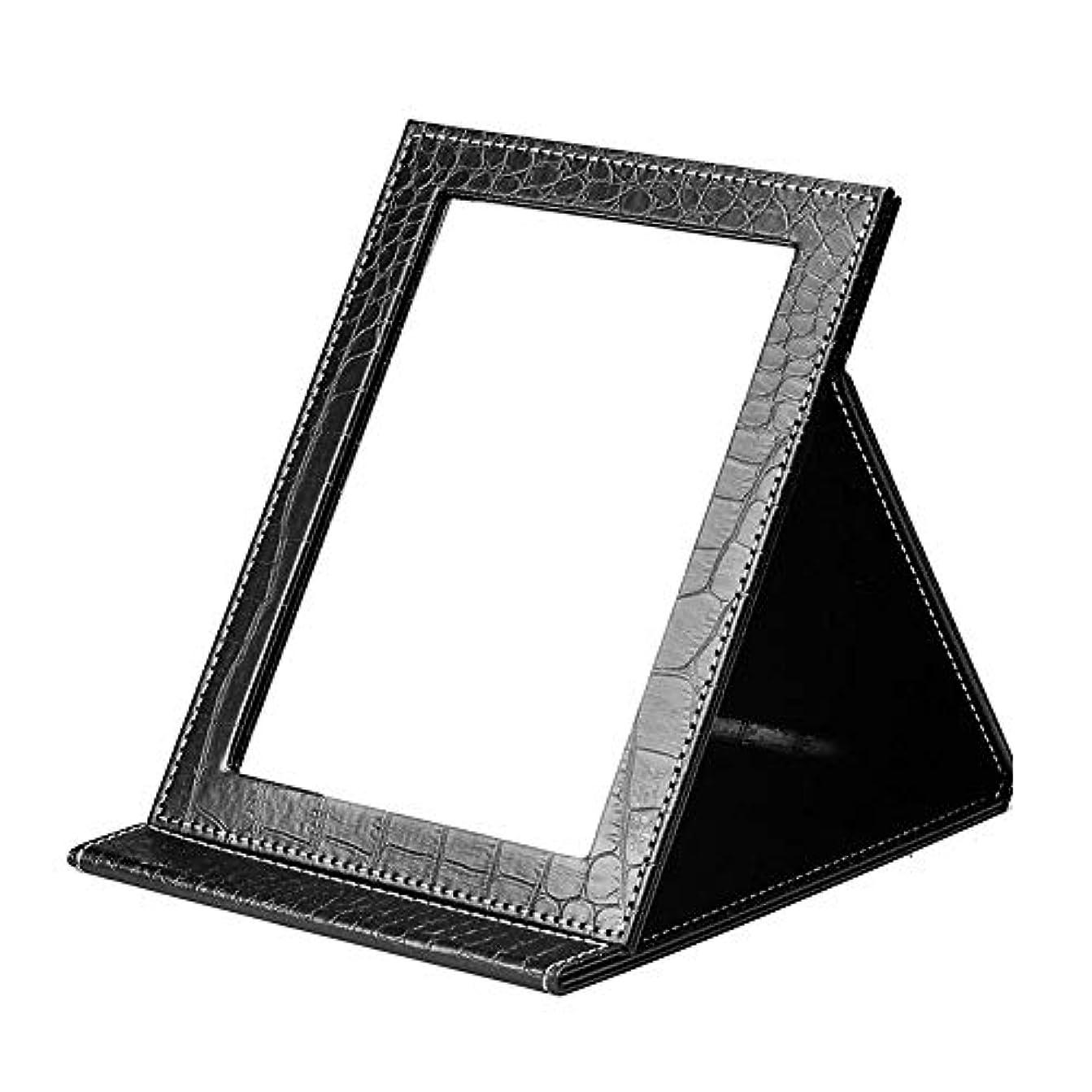 同意講義震えYWSHF 化粧鏡 卓上 折りたたみ式 角度調整可能 持ち運び便利 収納 旅行 女優 スタンドミラー