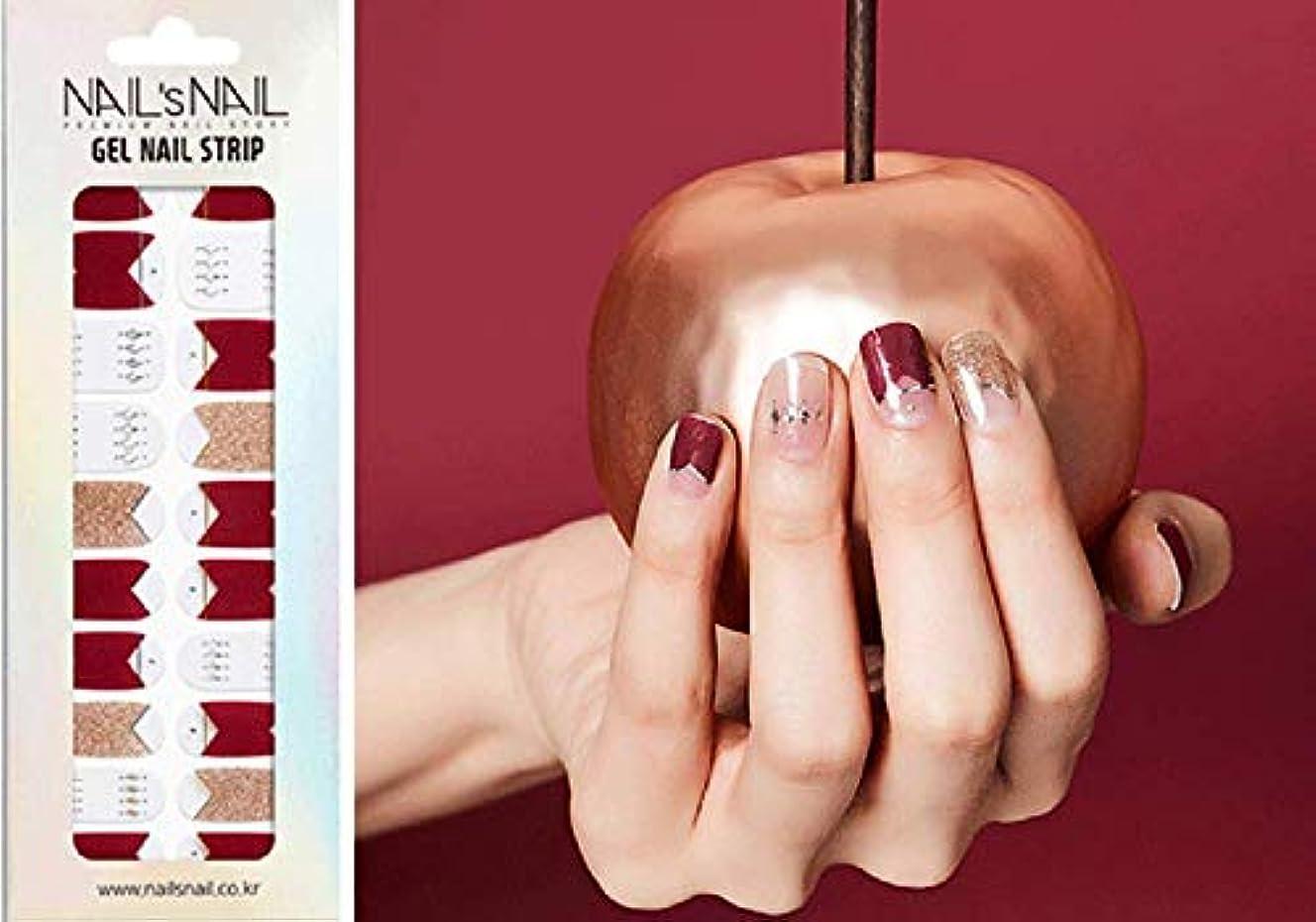 抑制する言い聞かせる雑草\貼るジェルネイル/Nail's Nail(ネイルスネイル) ジェルネイルストリップ 109
