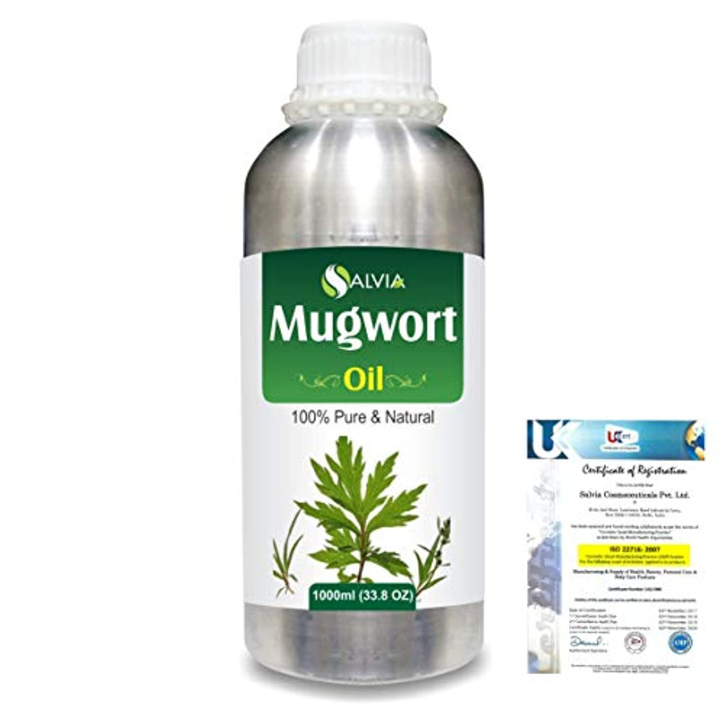旋回民主党郵便局Mugwort (Artemisia vulgaris) 100% Natural Pure Essential Oil 1000ml/33.8fl.oz.