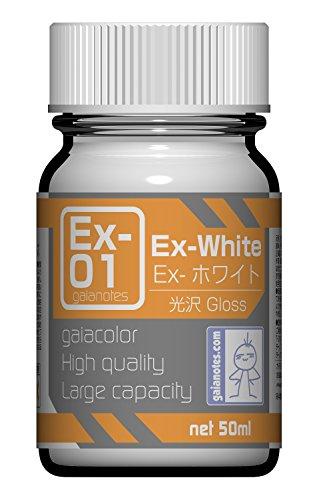 ガイアノーツ Exシリーズ Ex-01 Ex-ホワイト 50ml 模型用塗料 30011