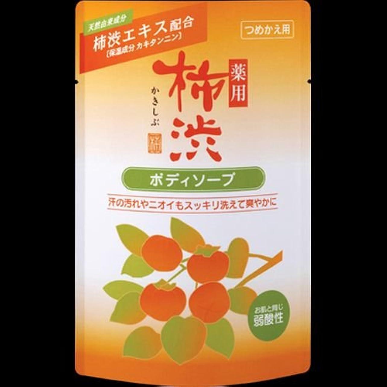 排除するカーフ石油【まとめ買い】薬用柿渋ボディソープ つめかえ用 350ml ×2セット
