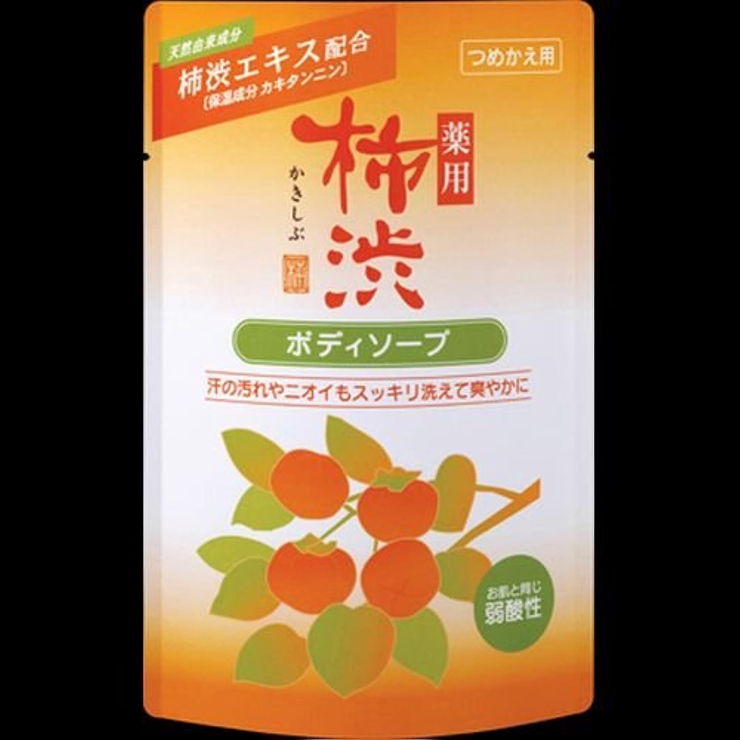 に対応迫害卵【まとめ買い】薬用柿渋ボディソープ つめかえ用 350ml ×2セット