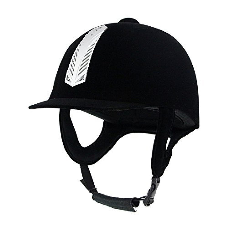 乗馬用ヘルメット プロテクター 馬術 ライディングキャップ ジョッキー 帽子 スウェード 調整可能 ベルベット 軽量 ユニセックス 男女兼用