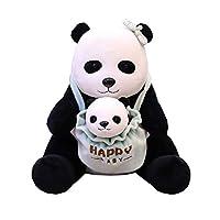 ぬいぐるみ 親子 取り外し可 パンダ かわいい 超萌え 癒し ふわふわ おもちゃ 抱き枕 寝かしつけ用 置物 飾り インテリア お誕生日 お祝い 贈り物 プレゼント こども 彼氏 彼女 柔らかい 抱き心地良い 25cm