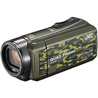 JVC ビデオカメラ Everio R 防水5m 防塵仕様 耐低温 耐衝撃 内蔵メモリー32GB カモフラージュ GZ-R400-G