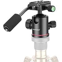 """Neewer ヘビーデューティカメラ三脚ボールヘッド ハンドル、1/4""""クイックシュープレート、360度パノラマヘッド付き 三脚、モノポッド、スライダー、DSLRカメラ、ビデオカメラに対応 最大荷重17.6ポンド/8キロ"""