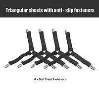 4本/セット多機能三角形シェイプベッドシーツファスナー高弾性ベッドシーツファスナーグリッパークリップサスペンダー 丈夫