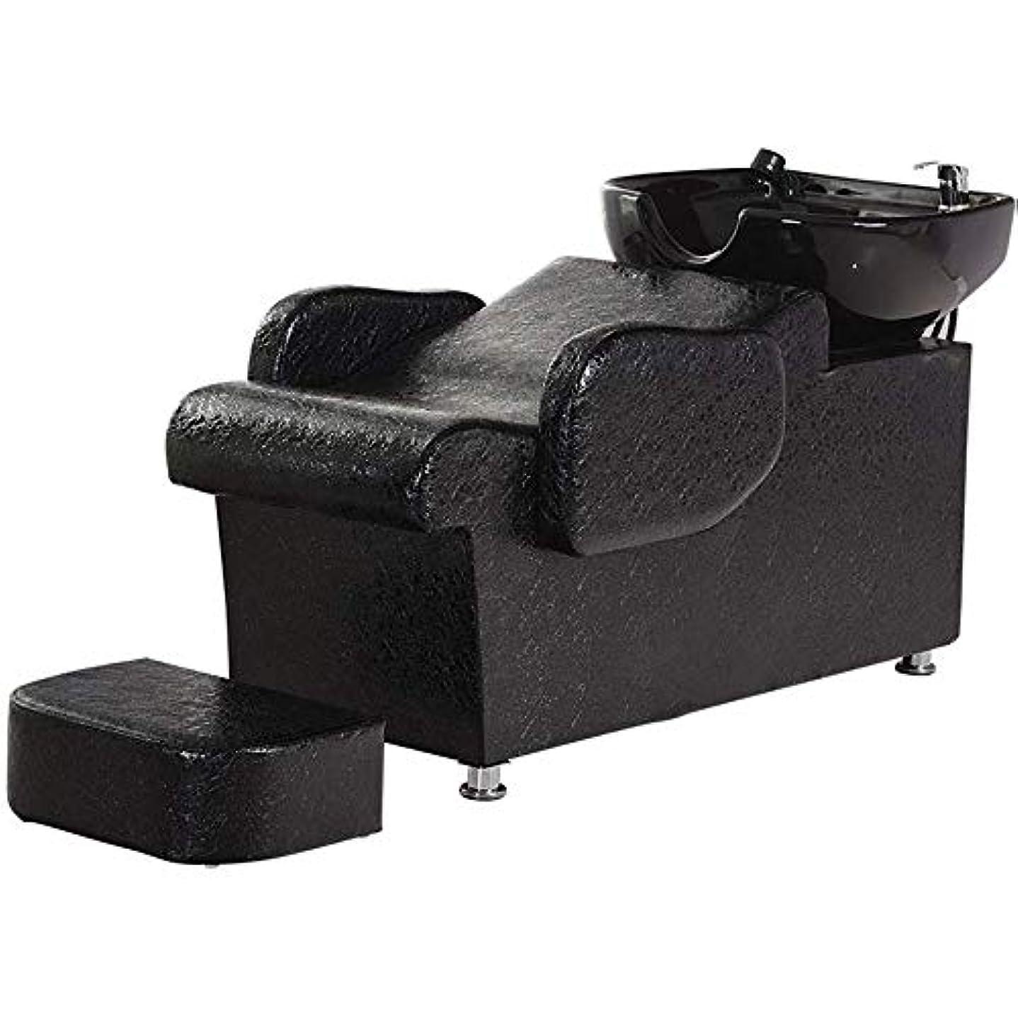 保有者談話隠されたシャンプーチェア、 逆洗ボウルユニット駅理容椅子スパサロン機器フラッシングベッドセラミック盆地