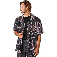 Stussy Men's Zebra Mens Ss Shirt Short Sleeve Rayon