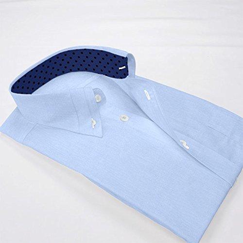 『ワイシャツ 軽井沢シャツ [A10KZB008]ボタンダウン 100番手双糸 マイター比翼 らくらくオーダー受注生産商品』の2枚目の画像