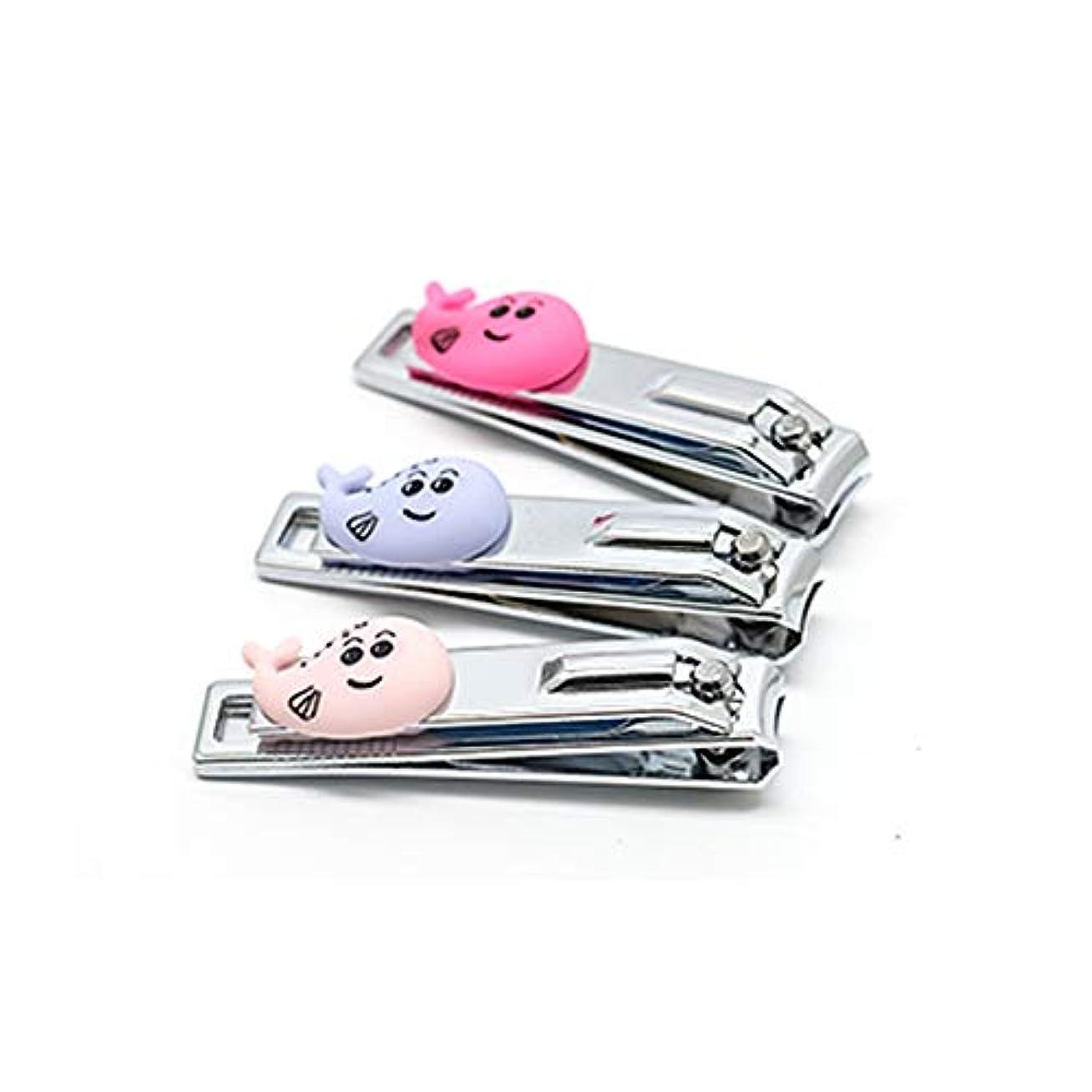アカデミックサーバファイバシンプルな爪切りかわいい爪切り携帯便利爪切り、ランダムな色