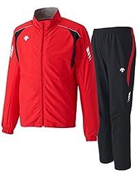 デサント(DESCENTE) トレーニングジャケット&パンツ 上下セット(レッド/ブラック) DRN-1710-RED-DRN-1710P-BLK