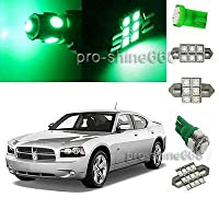 FidgetGear Green SMD Interior 12PCS Plate Lights Package for Dodge Charger 2006 2010