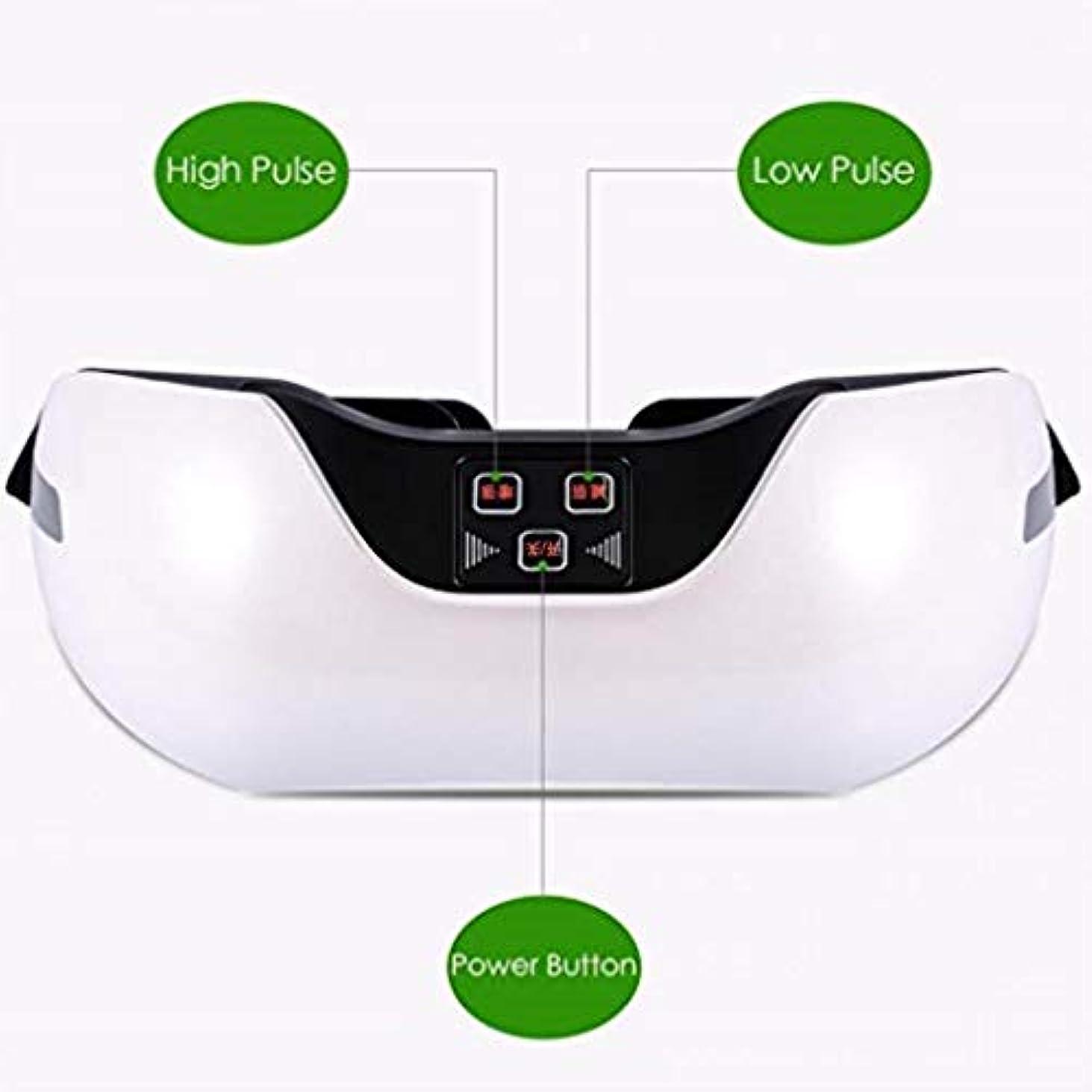 統合する連邦広範囲に近視の予防のための視力回復器具トレーニングアイマッサージ器具 (Color : White)
