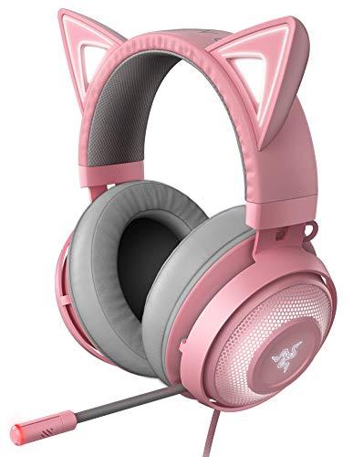 Razer Kraken Kitty Quartz Pink ゲーミングヘッドセット USB THX7.1 ネコミミ Chroma ノイズキャンセリングマイク 冷却ジェルパッド【日本正規代理店保証品】