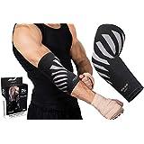 Physix Gear Elbow Brace Compression Sleeve - Neoprene Arm Support for Weightlifting, Tendonitis Pain, Tennis Elbow, Golfers Elbow, Arthritis, Bursitis, Basketball, Baseball, Football - Men & Women