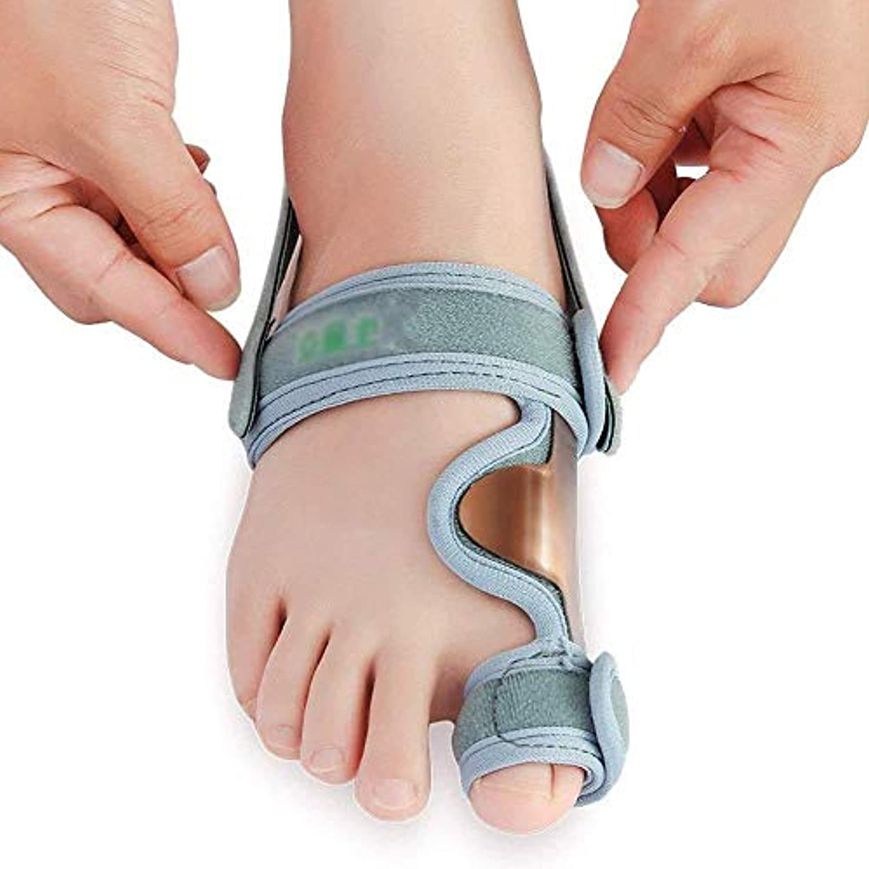 管理します苦痛忠誠外反母ortho装具、女性および男性の足の親指の矯正、遮るもののない外反母and、外反母gusの痛みが夜の副木を緩和する,Left Foot