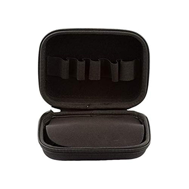パーフェルビッド装備する人気HEALIFTY 10本入り10mlエッセンシャルオイルケースポータブルエッセンシャルオイルキャリートラベルボックスホルダーオーガナイザー(ブラック)