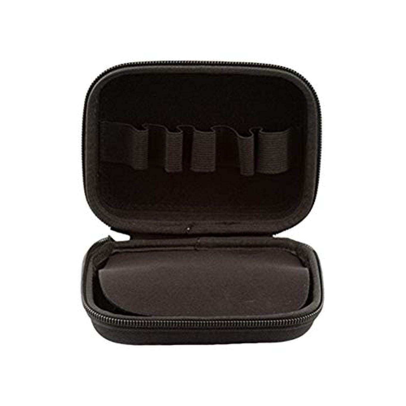 重要性分割取り囲むSUPVOX エッセンシャルオイルトラベルボックス10ボトルエッセンシャルオイル収納ケース持ち運び可能なトラベルホルダーオーガナイザー(ブラック)