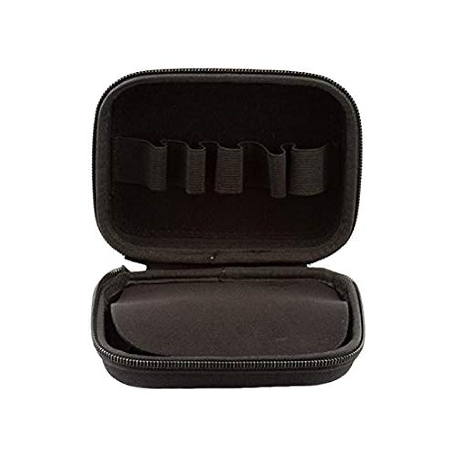 くさび置くためにパックルアーHEALIFTY 10本入り10mlエッセンシャルオイルケースポータブルエッセンシャルオイルキャリートラベルボックスホルダーオーガナイザー(ブラック)