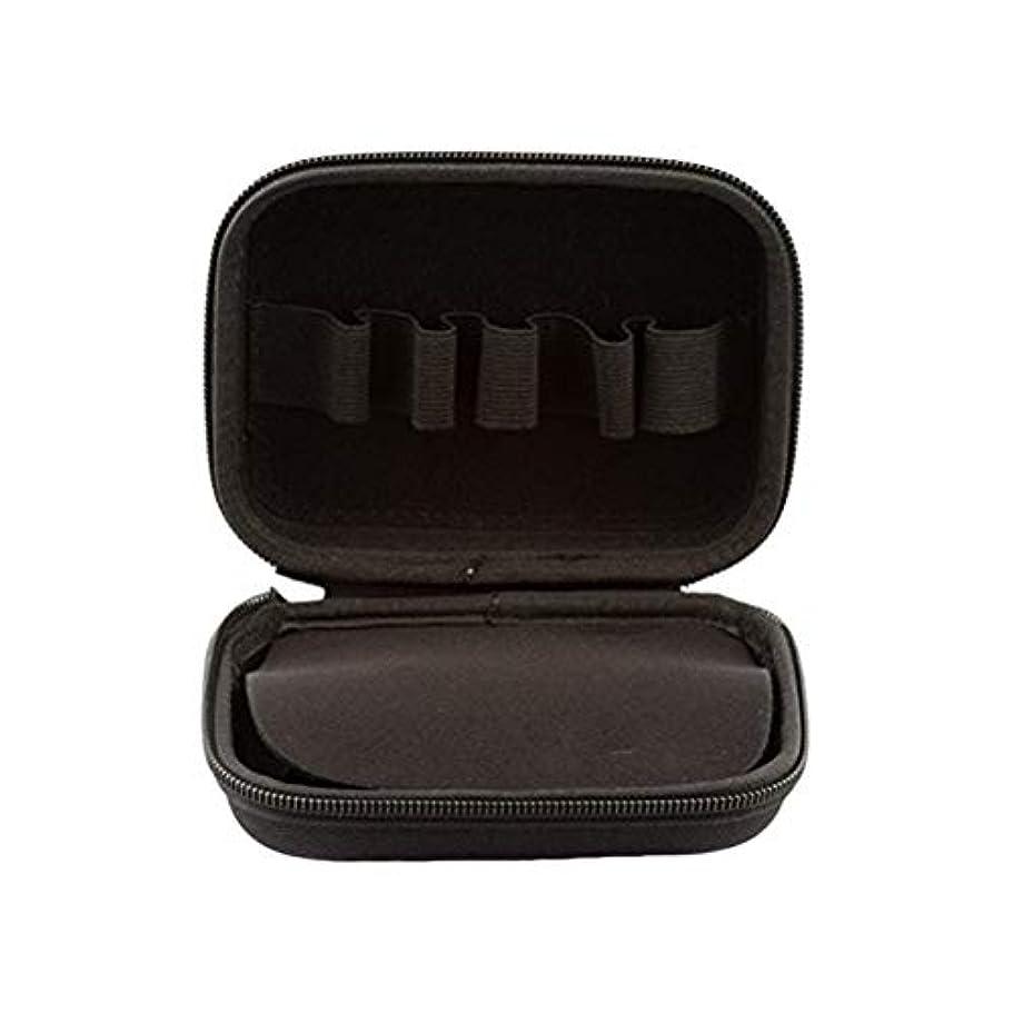 我慢する批判的に楽しいSUPVOX エッセンシャルオイルトラベルボックス10ボトルエッセンシャルオイル収納ケース持ち運び可能なトラベルホルダーオーガナイザー(ブラック)