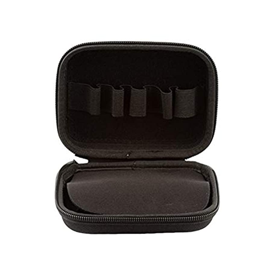 SUPVOX エッセンシャルオイルトラベルボックス10ボトルエッセンシャルオイル収納ケース持ち運び可能なトラベルホルダーオーガナイザー(ブラック)
