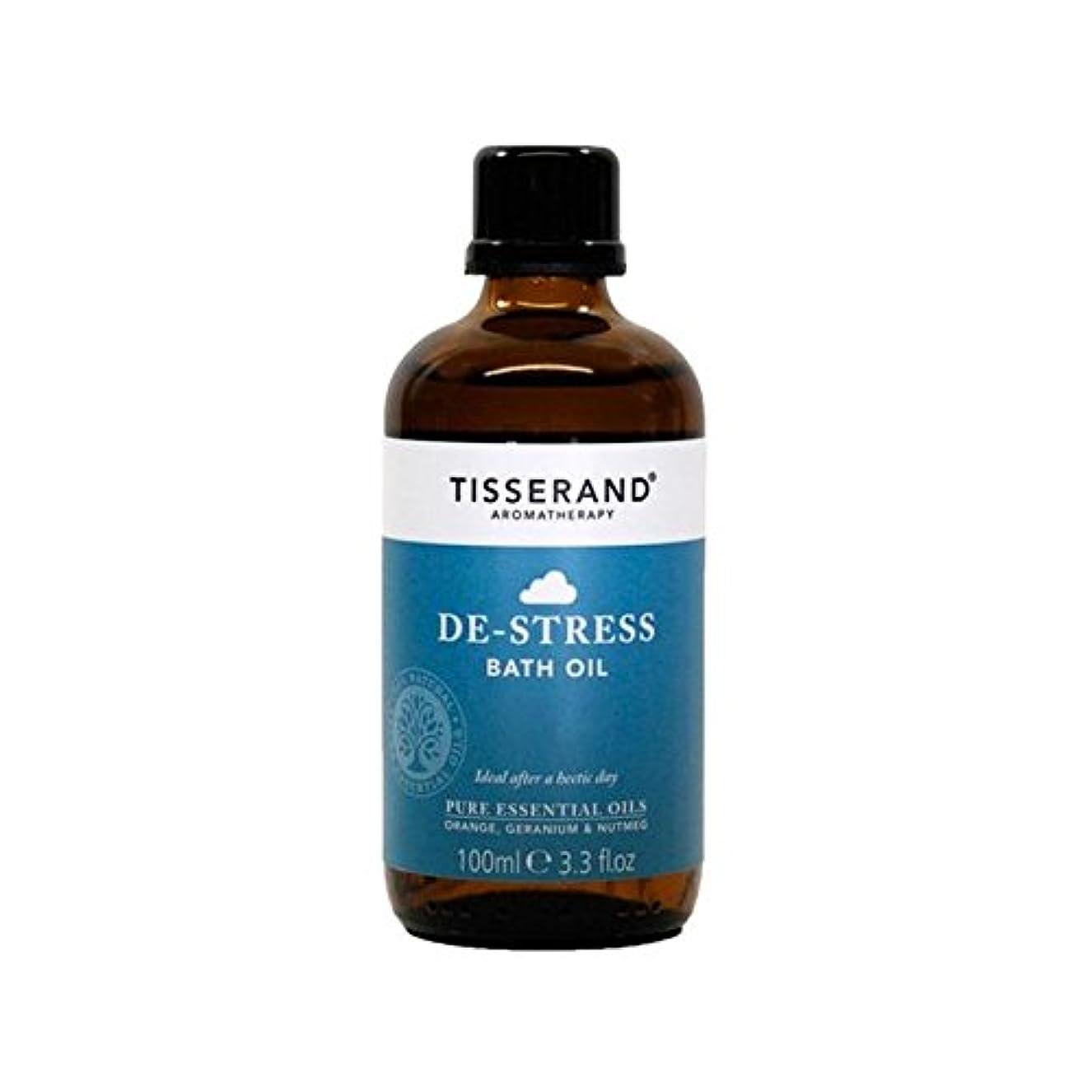 銃残酷な有効なTisserand De-Stress Bath Oil 100ml - ティスランドストレス解消入浴オイル100ミリリットル [並行輸入品]