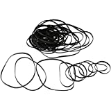 BQLZR 50 Pcs DVD Drive Rubber Belt Mixed 4mm Flat Folded 110 to 145mm for Recorders