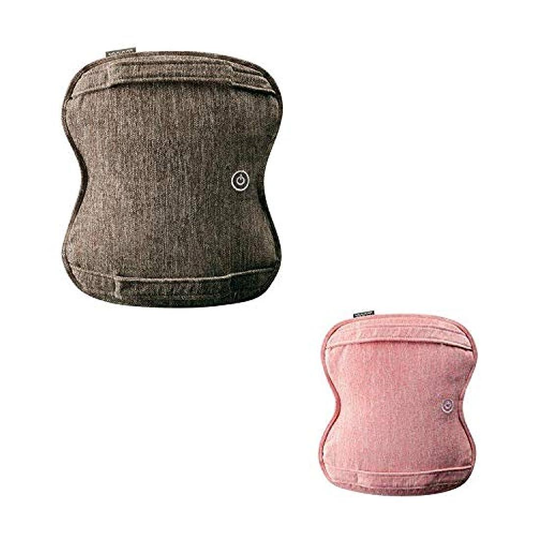 シネマ付属品悲観的ルルド AX-HCL258 ダブルもみ マッサージクッション マッサージ器 洗える 健康器具 腰痛 肩 首 プレゼント アテックス ATEX ランキング (ブラウン(br))