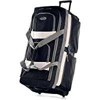 Olympia Luggage 22 8 Pocket Rolling Duffel Bag Black One Size