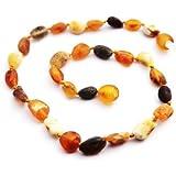 Momma Goose Olive Teething Necklace Unpolished Multi Small/11-11.5 [並行輸入品]