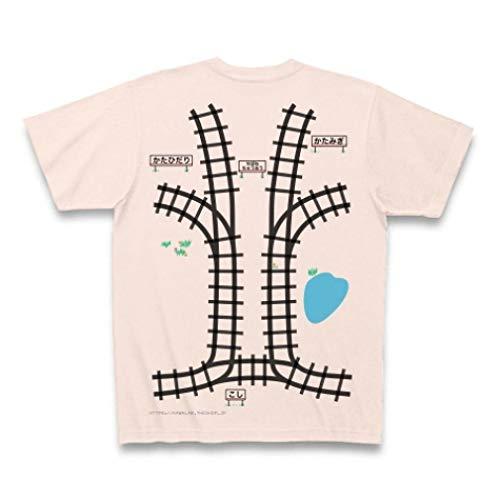 (クラブティー) ClubT 子供が勝手にマッサージしたくなる線路Tシャツ M ライトピンク