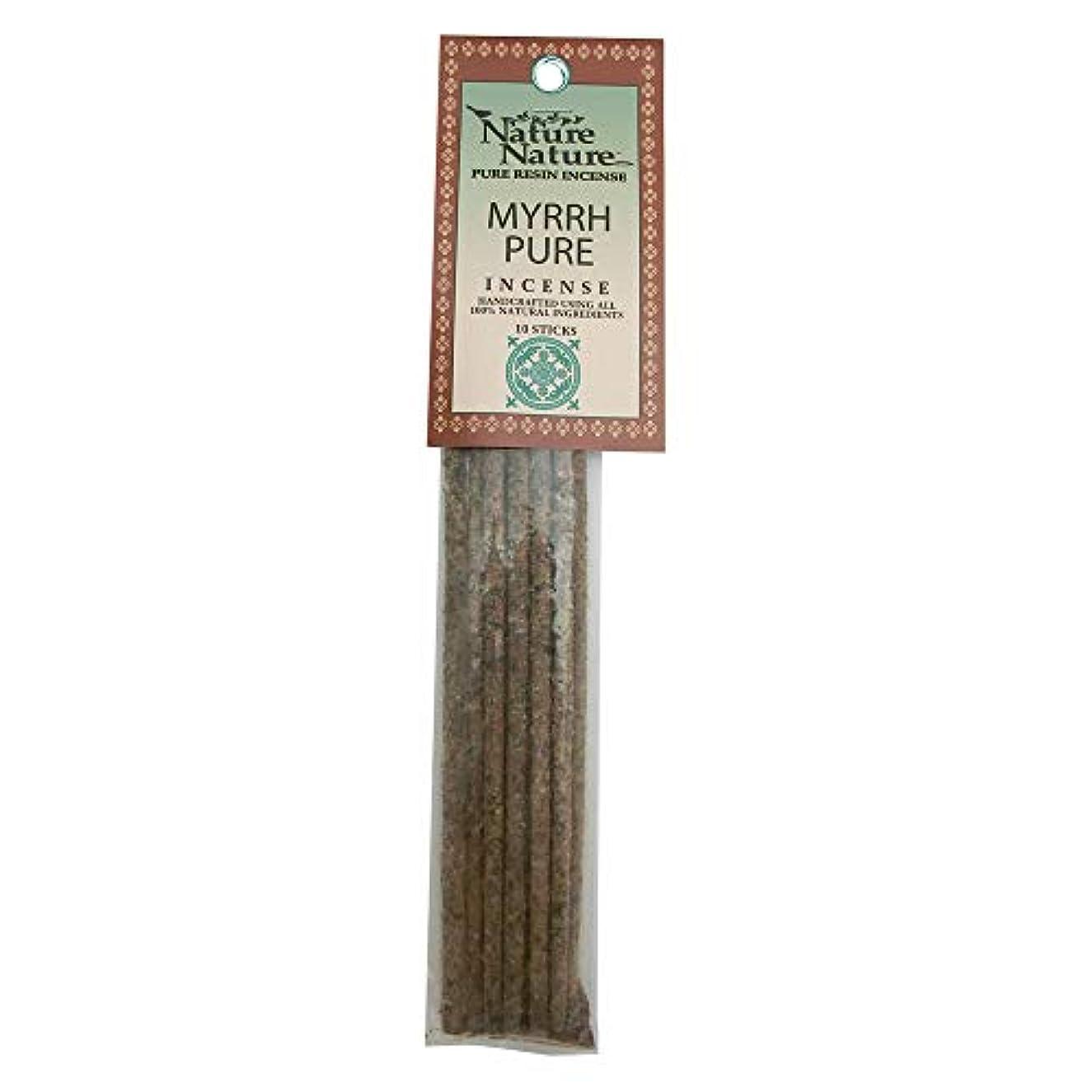 フラスコ恐ろしい溝Nature Nature Pure Resin Myrrh Pure インセンス
