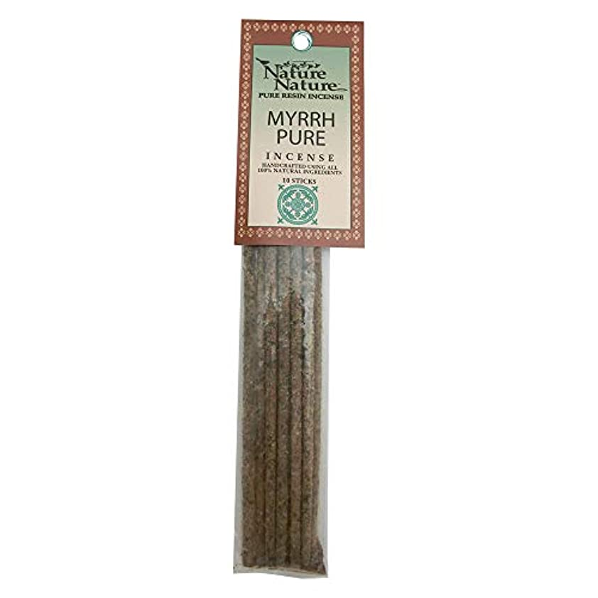 洗う睡眠石炭Nature Nature Pure Resin Myrrh Pure インセンス
