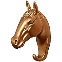 Xunerフック 壁掛けフック 馬 インテリア アンティーク 樹脂製 超強力クリア 傷つけない 壁掛け 傘/帽子/バッグ/キー キッチン トイレ 部屋飾り8個入