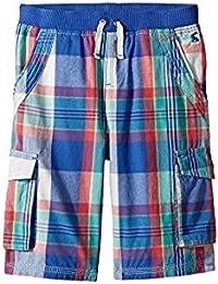 ジュールズ Joules Kids キッズ 男の子 ショーツ 半ズボン Dazzling Blue Check Plaid Cargo Shorts [並行輸入品]