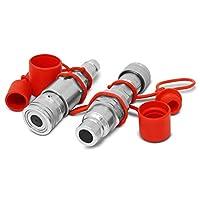 フラット面ISO 16028to Ag ISOパイオニアスタイル油圧クイックカプラアダプタセット