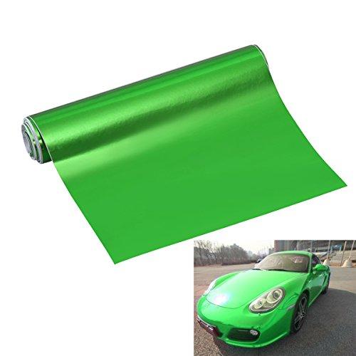 WINOMO カッティングシール カーボンシール カーラッピング ラッピングシート カーボンステッカー ハイグロス 高光沢 艶あり ミラー 粘着 家具 窓 多機能 6x60インチ (緑)