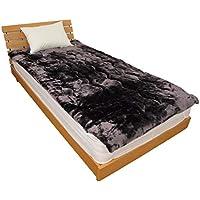 敷きパッド あったかボリュームタイプ セミダブルサイズ 120x205cm 暖か パッドシーツ 敷パット 217DK21SD (ブラウン)