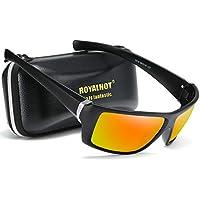 RoyalHot Polarized Sports Sunglasses for Women Men Black Driving shades Cycling Running Sporting Sun glasses