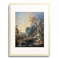 フランソワ・ブーシェ François Boucher 「Landschaft mit Einsiedler. 1742.」 額装アート作品