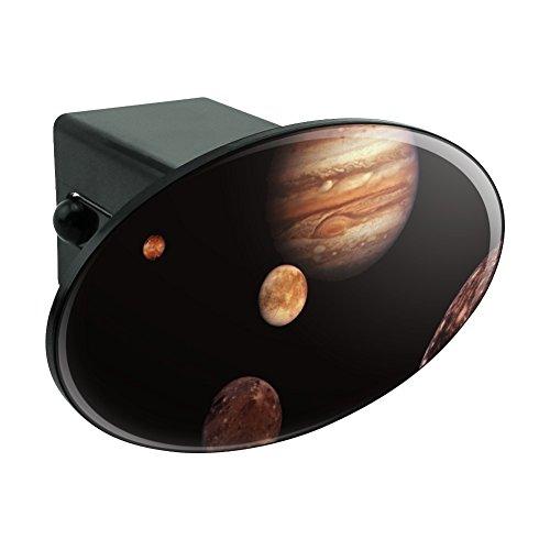 """地球の木星Io Europa GanymedeとCallisto Moons Space オーバルトウヒッチカバートレーラープラグインサート2"""""""
